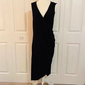 Torrid Black Sleeveless Faux Wrap Jersey Dress 3X